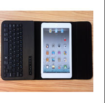 Cheap & hot leather case with bluetooth keyboard for ipad mini