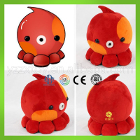Custom china minion octopus sound machine plush toy cheap