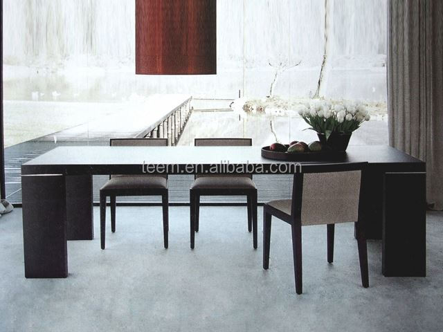 modern long square dinner table extendable coffee dining table