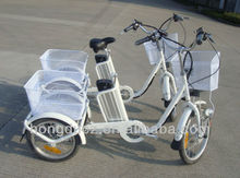 250W Llithium battery small electric tricycle for sale with front&rear basket