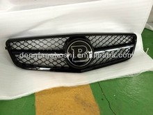 Replacement full black Style Front Center Grille For Mercedes Benz C Class W204 change to Brabus grille
