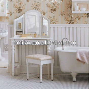 European style antique dressing table with mirrors
