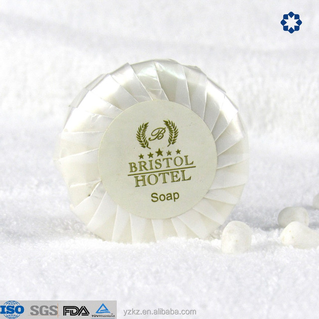 pleat wrapped high quality classic white soap hotel round soap organic hotel soap
