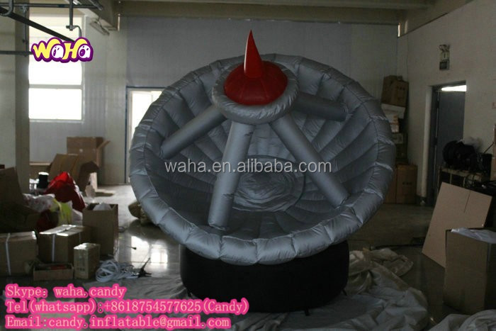 new design giant custom made inflatable model of radar for decoration