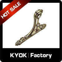 China flat metal bracket ;straight metal bracket ;metal curtain rod ac