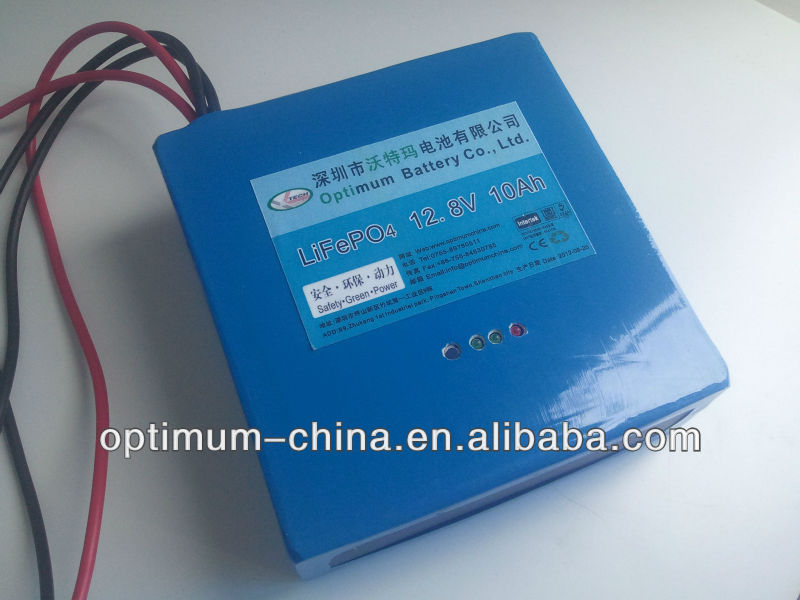 Rechargeable lithium ion (LiFePO4) phosphate battery 12V 10Ah