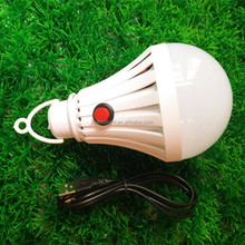 cheaper price Novelty 7W USB rechargeable LED light bulb Button Switch Emergency led bulb