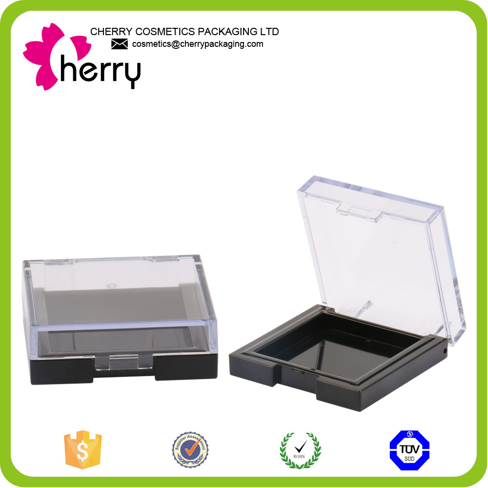 hot sale rectangle transparent lid eyeshadow container plastic packing
