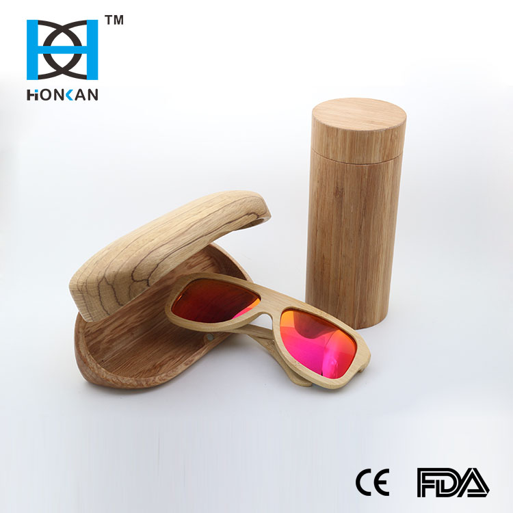 HOT Comfort newest fashion design bamboo wood sunglasses case