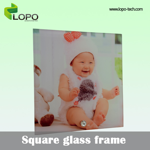 dye sublimation blanks, simple Square Glass Photo Frame