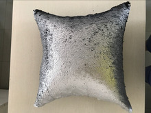 45*45cm Pillow Case DIY Two Tone Glitter Mermaid Sequins Throw pillows cover decorative cushion case cover for sofa