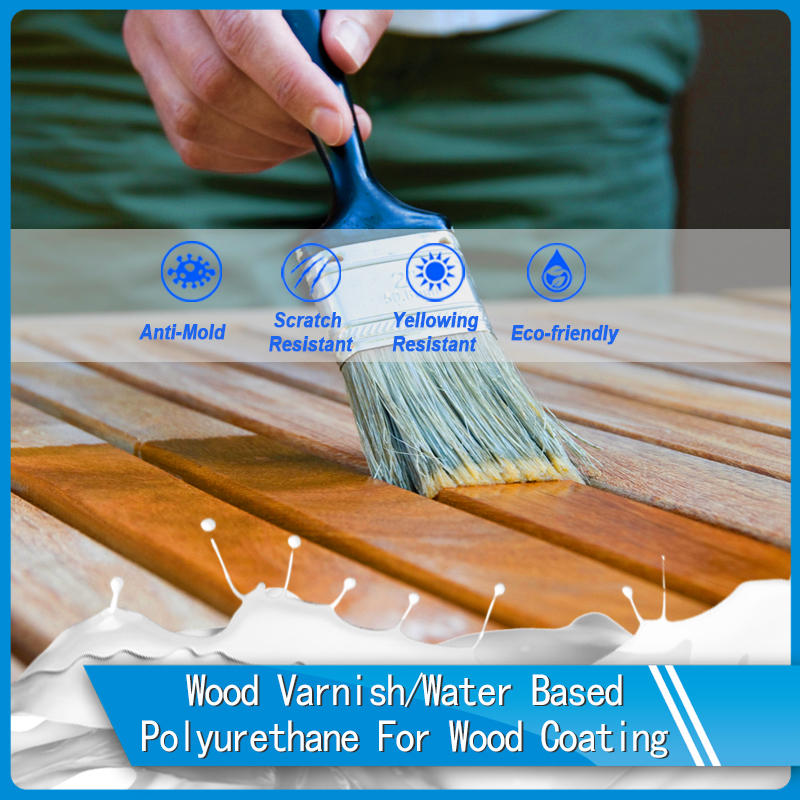 Water based polyurethane wood coating for topcoat