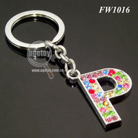 Crystal Diamond Ring Key Chain