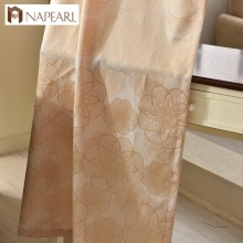 Napearl jacquard blackout curtain pop design for living room