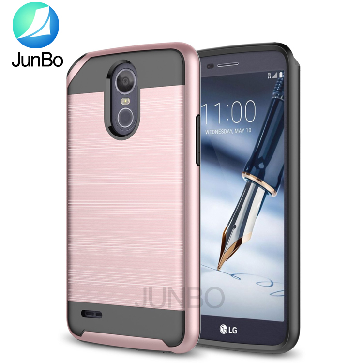 Dual Layer PC TPU Hybrid Shockproof Back Cover Cell Phone Case For LG Stylo 3 plus/Stylo 3/K10 Pro/LS777 Boost Mobile