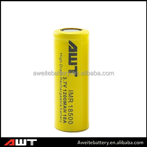 AWT 18500 li ion battery 3.7v 1200mah 18A laptop battery Icr18650-m26 for mechanical mod philippines laptop battery