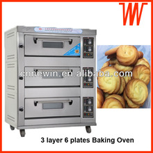 3 Layer 6 plates Bread Crumbs Baking oven