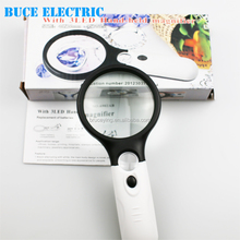 Illuminated Handheld Magnifier Magnifying Glass with Led NO.6902A