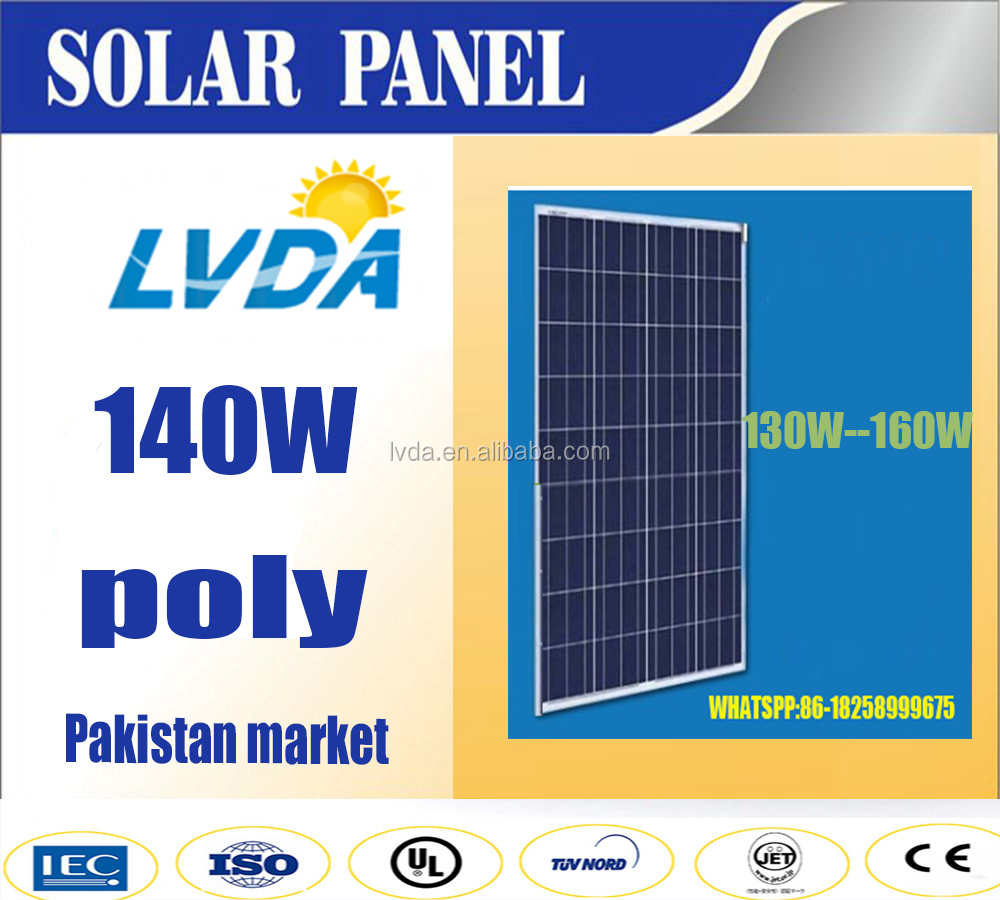 140w poly solar panel best price for hot selling