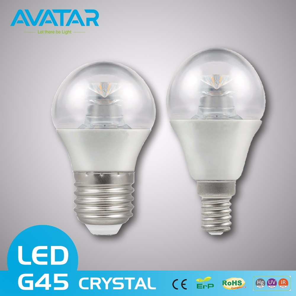 Crystal ce rohs 7w e27 e14 B22 led dimmable desk smd ball lamp bulb with plastic cover china direct light manufacturer