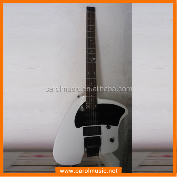 EHS002 White Color Headless Electric Guitar