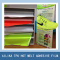 shoe material of TPU color film for free sew shoe upper making mesh fabric adhesive
