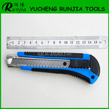 Hot sell high quality cutter knife with plastic handle standard snap off carbon steel blade Factory direct sale