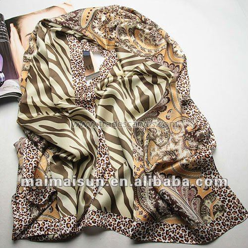 2015 Leopard Style Ladies Printed long head scarf