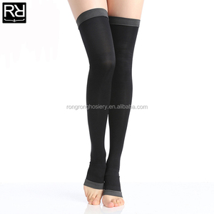 Women Sleep Wearing Slimming Overnight Compression Thigh Highs