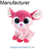 Promotional cuddly comfortable big eyes stuffed plush animals,stuffed animals with big eyes
