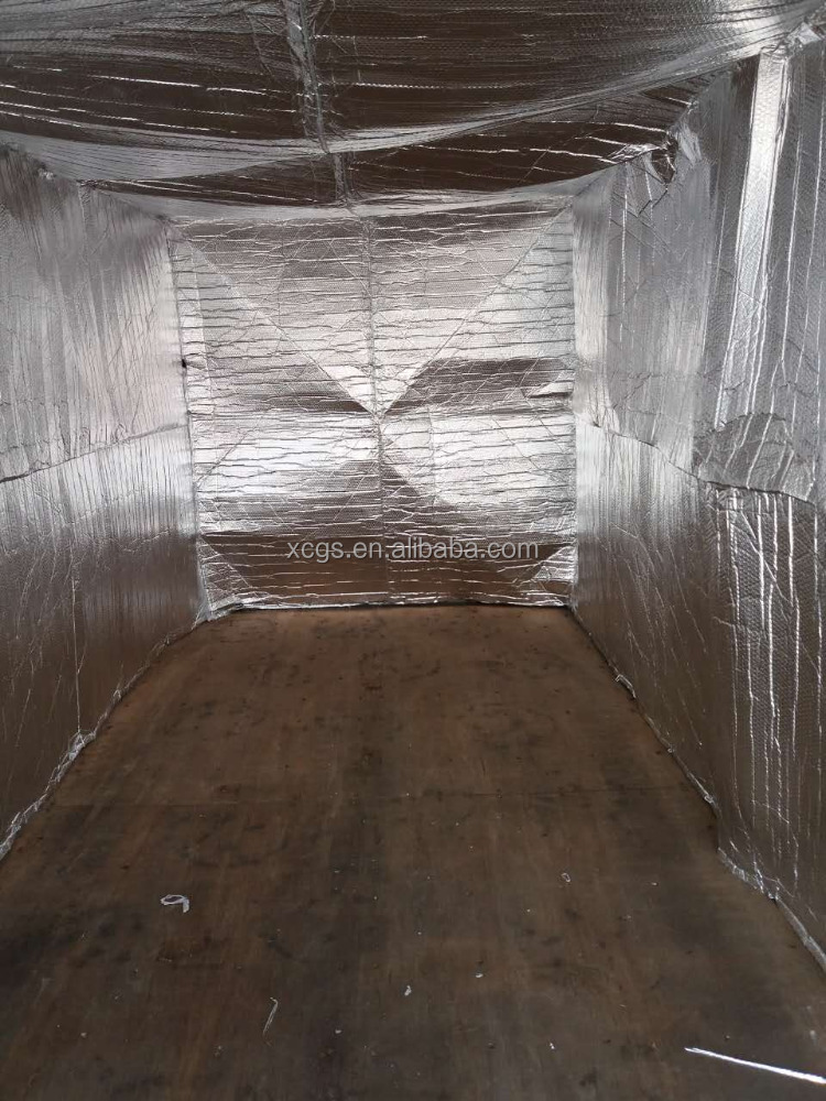 Alu foil dry bulk container liner for food and wine