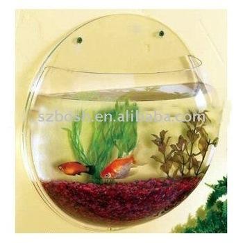 Wall mounted round acrylic fish tank buy wall mounted - Wall mounted fish aquarium ...