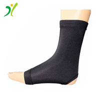 Custom factory FDA CE copper fiber compression support foot sleeves ankle brace