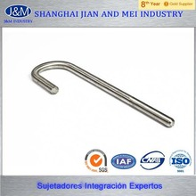stainless steel m20 grade 8.8 8mm j bolt with nut