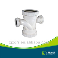 CHINA MANUFACTURER PVC PIPE FITTINGS WHITE REDUCING CROSS