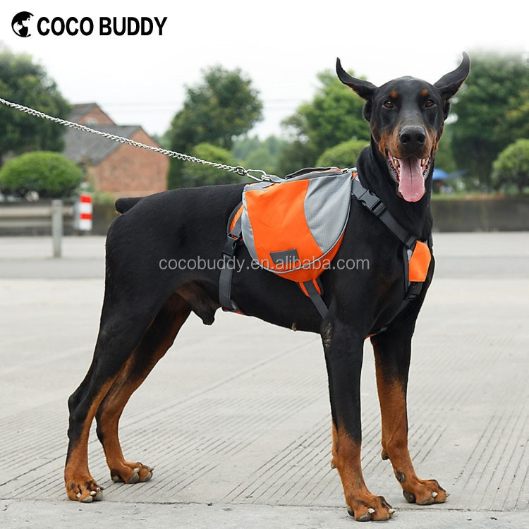 Pets Supplies Harnesses Pet Dog Saddlebag Outdoor Dog Backpack With Side Pockets