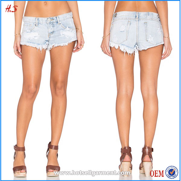 Wholesale in Bulk Denim Shorts from China Manufacturers Hot Girl Sexy Picture Fashion 100% Cotton Jean Shorts