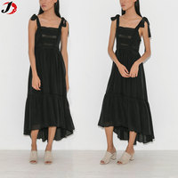 2017 New Fashion Ladies Long Black
