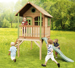 HC-12303 Wooden Playground Outdoor Wooden Kids Cubby Houses