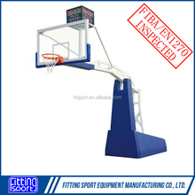 Hot Selling with High Quatity Electro Hydraulic FIBA Standard basketball Goal/Hoop