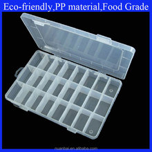 24 Compartments Adjustable Plastic Electronics Parts Gadgets Tool Storage Box with dividers
