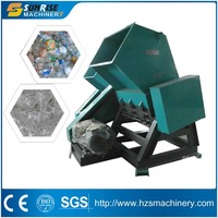 Plastic bottle crusher for waste PET bottle recycling