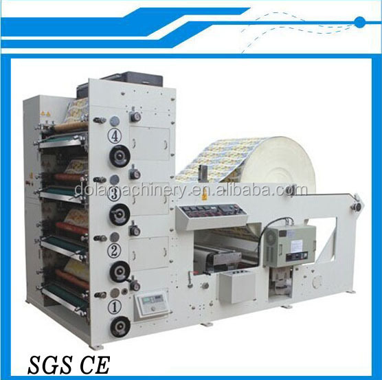 4 Colour Paper Tea Cup Printing Machine, Machine For Printing Disposable Cup, Stack Type Narrow Web Flexo Printing Machine
