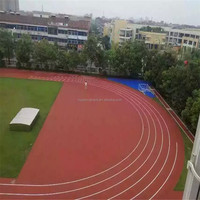 university stadium prefabricated synthetic rubber running track material