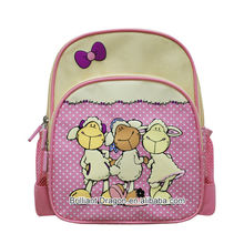 2017 Wholesale Girls School bag cartoon pattern backpack kids