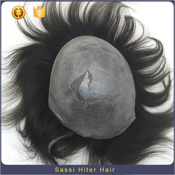Wholesale Double Drawn High Quality Grey Hairpieces