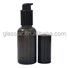 Free sample Black large glass bottle pump spray glass bottle airless glass bottle