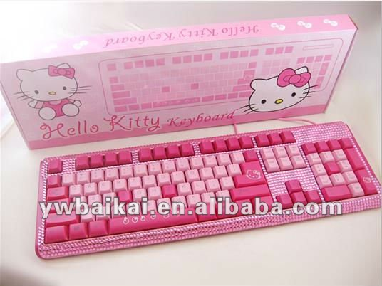 new hot sale Hello kitty computer keyboard