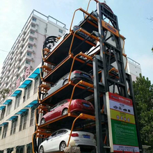 Automated Parking Lot Car Lift / Vertical Circulation Car Parking Garage System for Office Area