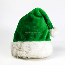 custom Soft Plush colorful santa claus hat
